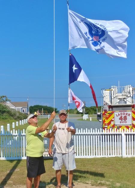Chicamacomico LSS flagpole 3