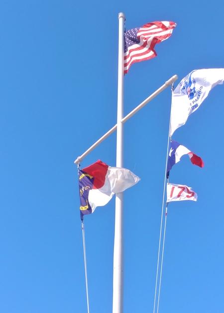 Chicamacomico LSS flagpole 4